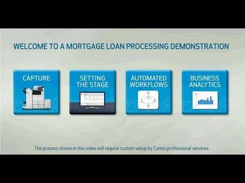 Mortgage Loan Processing Demonstration