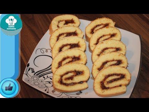 Rulet Hazırlanması (Cemli Rulet Resepti) Rulo pasta tarifi
