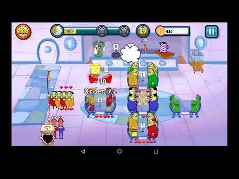 SpongeBob SquarePants Diner Dash Deluxe Gameplay (World 2)