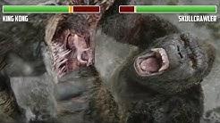 King Kong vs. Skullcrawler WITH HEALTHBARS | Full Final Battle | HD | Kong: Skull Island
