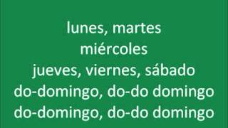Spanish Days of the Week Rap