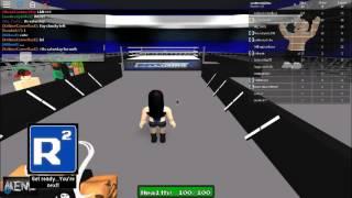 WWE Tag Team match | Zachery & Paige vs. Lana & Unknown | ROBLOX WWE 2k17