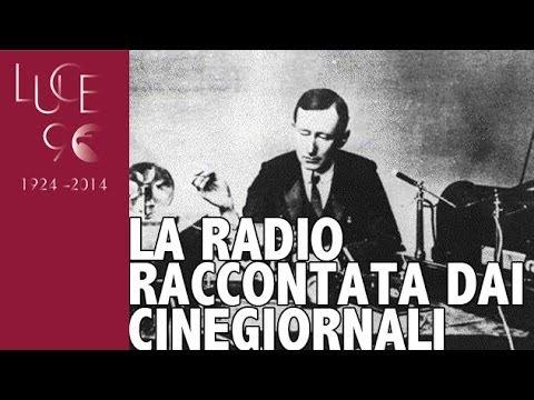 Presentazione del padiglione radio all'Esposizione di Torino.