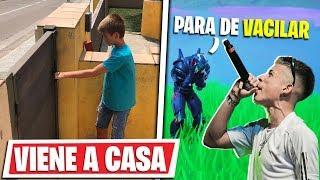 Un NIÑO viene a Mi CASA por Hacerme pasar por TRUENO en Fortnite...