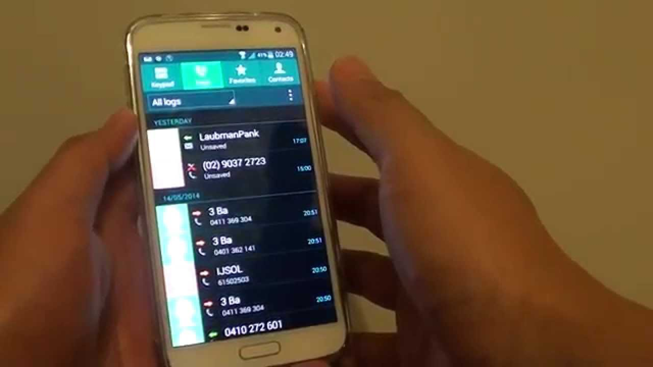 Samsung Galaxy S5 How To Set Call Logs To Display On Missed Call