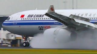 STORM | AMAZING Wet Runway Landings & Takeoffs ● Melbourne Airport Plane Spotting