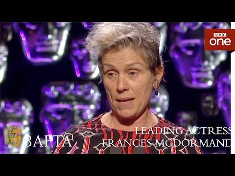 Frances McDormand wins Leading Actress BAFTA  The British Academy Film Awards: 2018  BBC One
