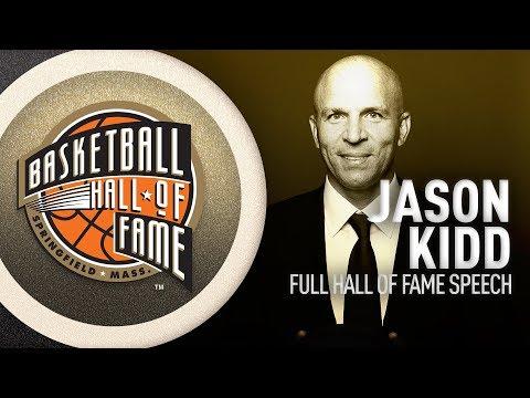 Jason Kidd   Hall of Fame Enshrinement Speech