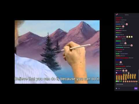 Bob Ross marathon Finale + chat reaction!!! (Twitch) KappaRoss