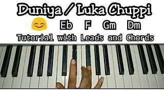Luka Chuppi : Duniyaa | Easy Piano The | Kartik Aaryan Kriti Sanon | Akhil | Dhvani B | Abhijit V