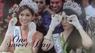 #OneSweetDay with Miss Universe 2013 Gabriela Isler in Indonesia