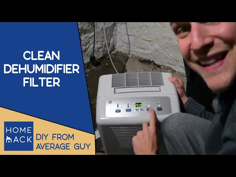 How to clean filter on GE dehumidifier