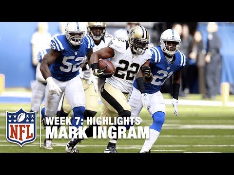 Mark Ingram Highlights (Week 7)   Saints vs. Colts   NFL