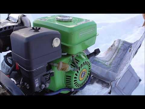 Мотобуксировщик в мороз