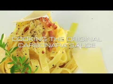 Cooking The Original Carbonara Sauce