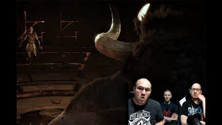 A MINOTAUR! Reacting to Assassin's Creed Odyssey Gameplay from E3 2018!
