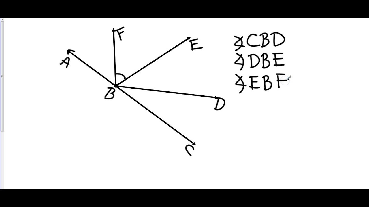 Geometry 1 4 Angle Measure - YouTube