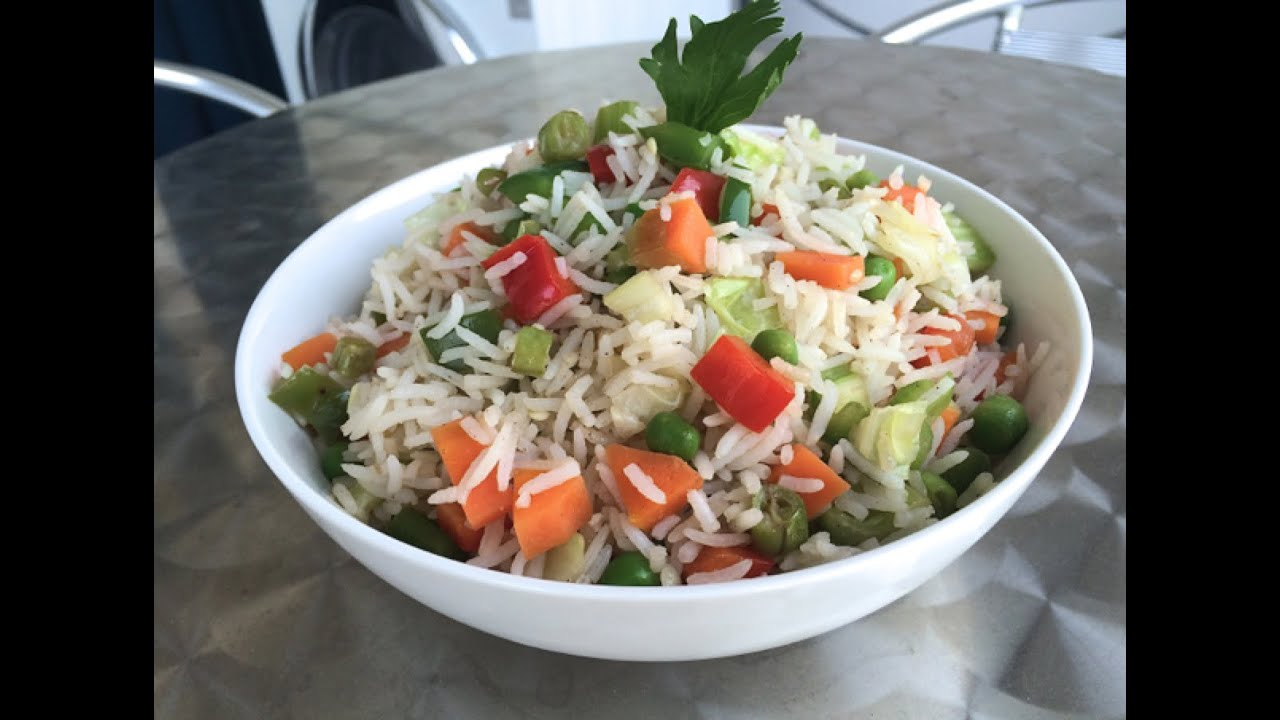 "VEGETABLE FRIED RICE"" - INDIAN Vegetarian Recipes - How to cook ..."