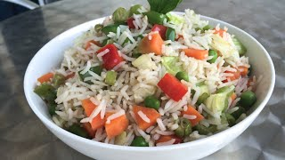 """vegetable Fried Rice"" -  Indian Vegetarian Recipes - How To Cook/prepare"