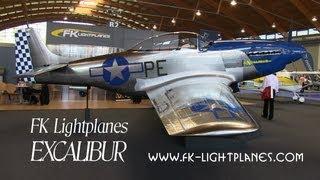 fk lightplanes excalibur fk excalibur mustang replica of p51 mustang done in composite