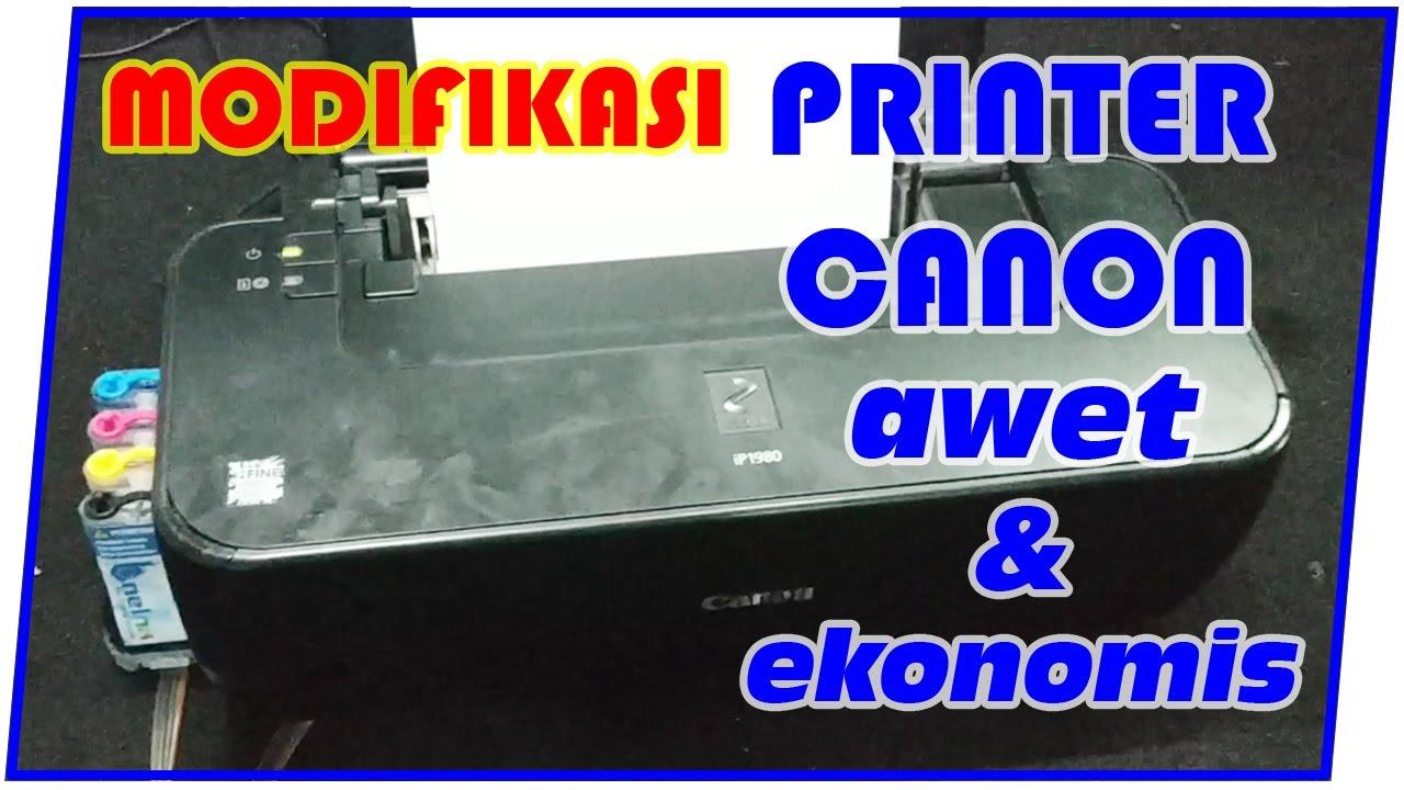 Cara Pasang Infus Mofikasi Printer Canon Ip1980 Ip1880 Youtube
