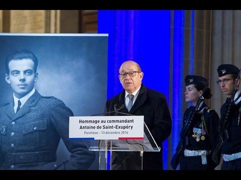 Hommage national à Antoine de Saint-Exupéry au Panthéon