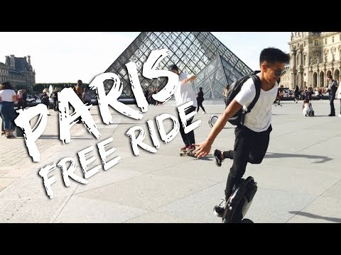 PARIS // FREE RIDE - Electric Unicycle FREESTYLE GYROROUE (iPhone cinematic footage)