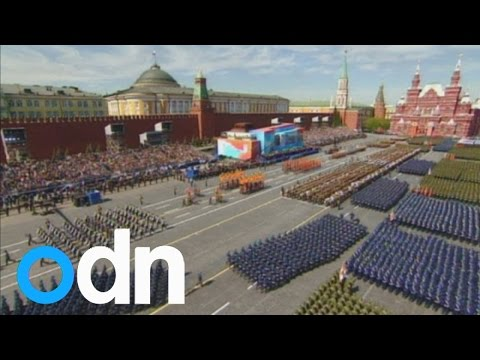 Military parade in Moscow to mark Soviet Union