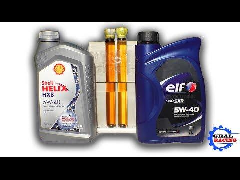 ELF SXR 5W40 обзор сравнение с SHELL HX8