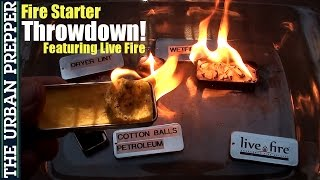 Live Fire: Emergency Fire Starter Throwdown! by TheUrbanPrepper