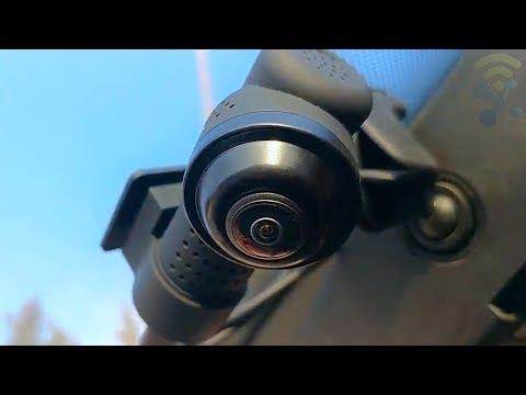 Yakola Y9 WiFi DashCam Review ✔️ Full HD2160P 360° Panorama Fisheye Lens, Dual Mini Car Camera