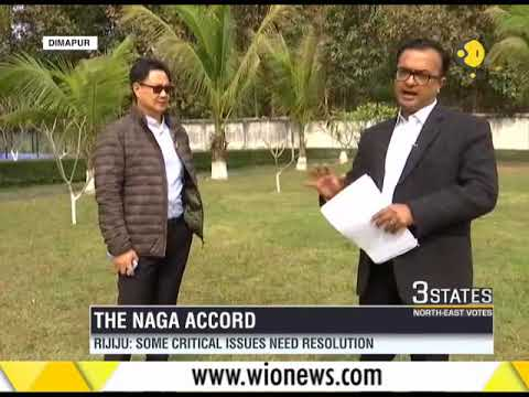 """Watch: Minister of State for Home Affairs, Kiren Rijiju talks on the """"Naga Accord"""""""