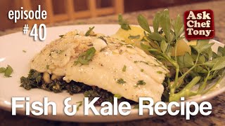Flounder Recipe With Kale - An Easy, Healthy, Garden Inspired Dish.