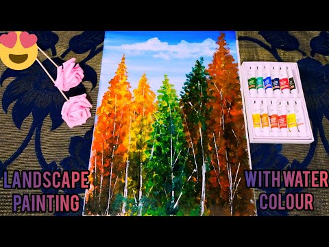 easy and beautiful landscape painting / Easy water colour painting ||Sana subhanallah||