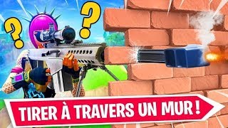 GLITCH: TIRER TO TRAVERS THE FORTNITE CONSTRUCTION!