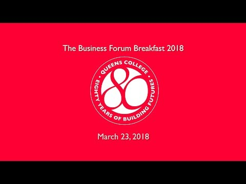 Queens College Business Forum: Urban Sustainability In NYC