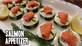 Cucumber and Smoked Salmon Appetizer
