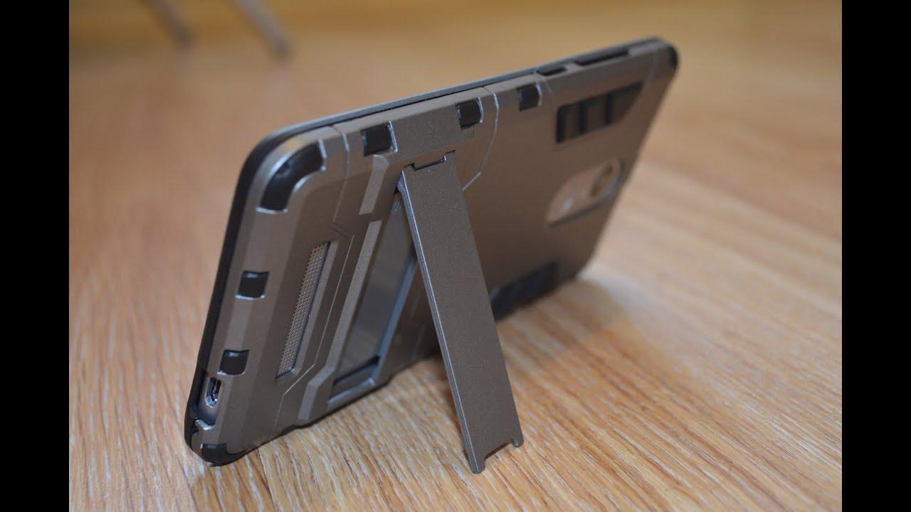 КРУТОЙ КОЖАНЫЙ ЧЕХОЛ ROCK на Xiaomi Redmi Note 3 Pro ▻ Посылка из .