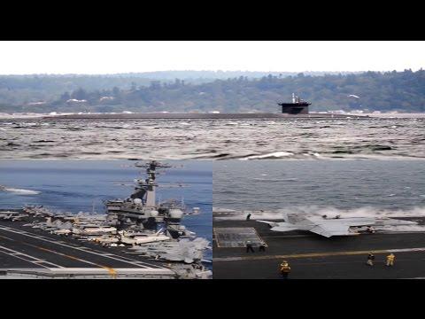Aircraft Carrier USS Carl Vinson CVN 70, Submarine USS Michigan, Target North Korea