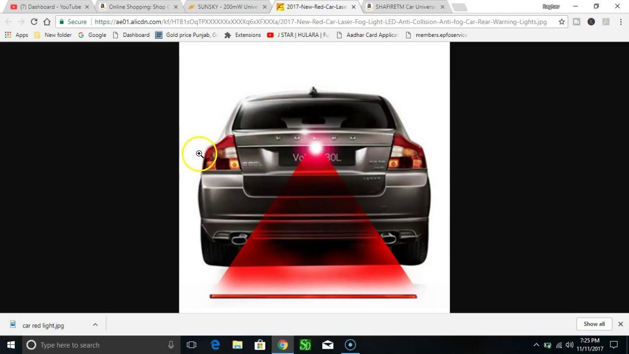 CAR ACCIDENT PROTECTOR FROM FOG Car Universal Alarm Laser Fog Light - Car laser light show