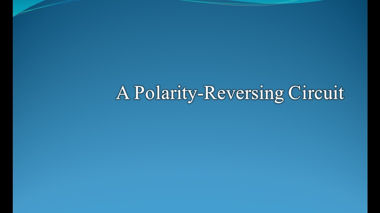 A Polarity Reversing Circuit Wizard Youtube The Control Relay Is Switched Off When Q1 Covered By