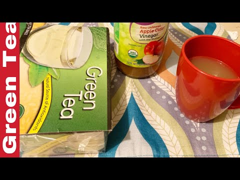 How to make green Tea with apple cider vinegar//Green tea for weight loss