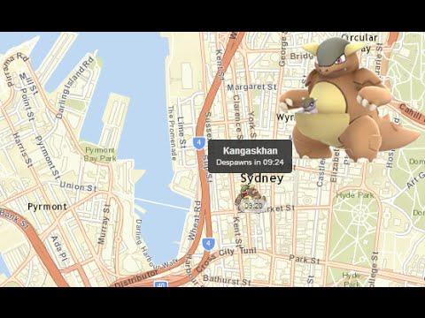 Kangaskhan Found in Sydney Australia Map Pokemon Go YouTube