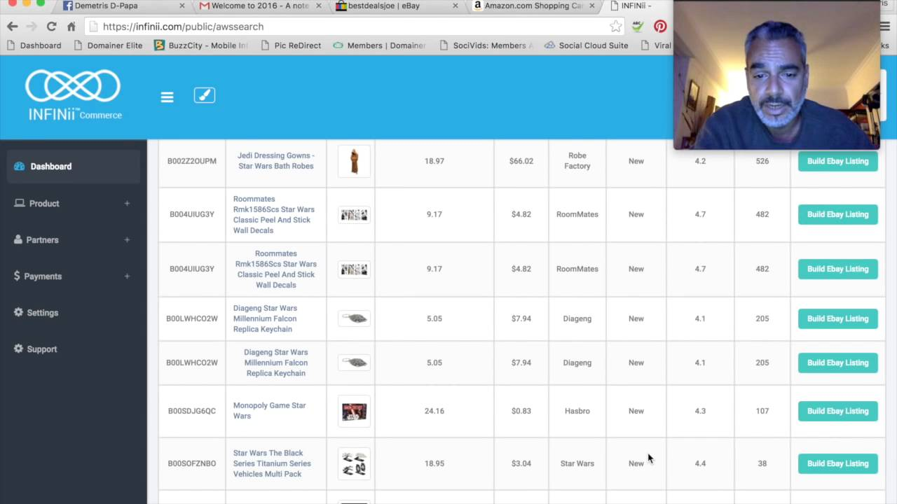 Infinii S Surge Ebay And Bonanza Product Research Automated Listing Tool Youtube