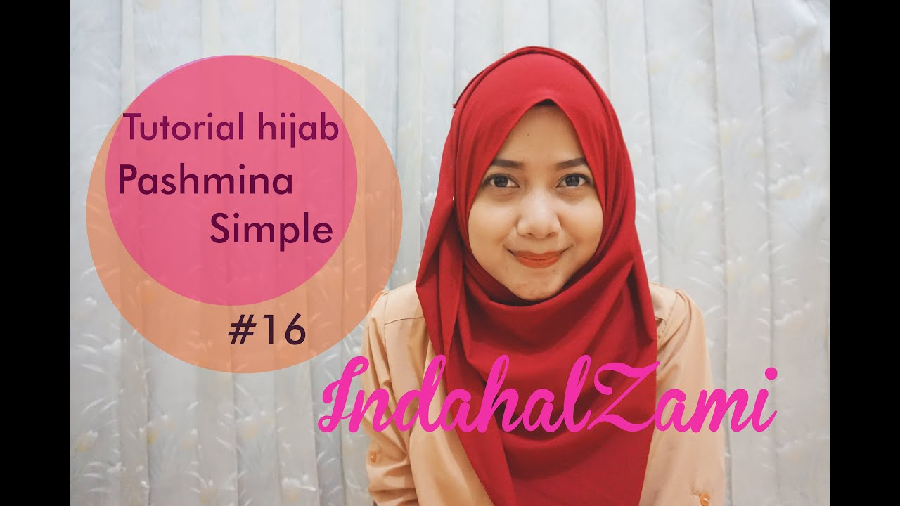 Tutorial Hijab Pashmina Simple Pashmina Diamond Italiano 16