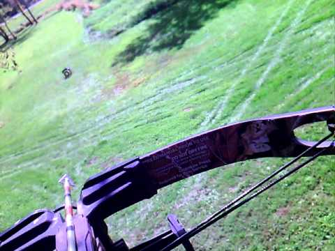Shooting my Horton crossbow with Steel Force broadheads