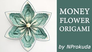 My THE FLOWER IN THE FLOWER   Money Dollar Origami Lei   Tutorial DIY by NProkuda