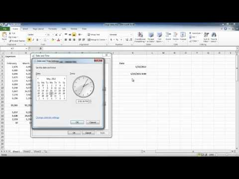 How to work with times and dates in Excel 2010