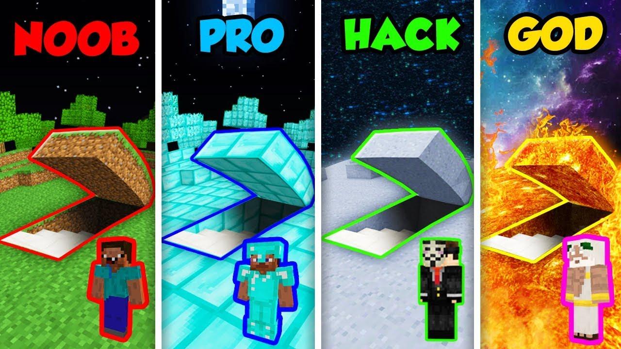 Minecraft Noob Vs Pro Vs Hacker Vs God Secret Planet