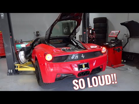 Ferrari 458 Straight Pipe Exhaust Install!